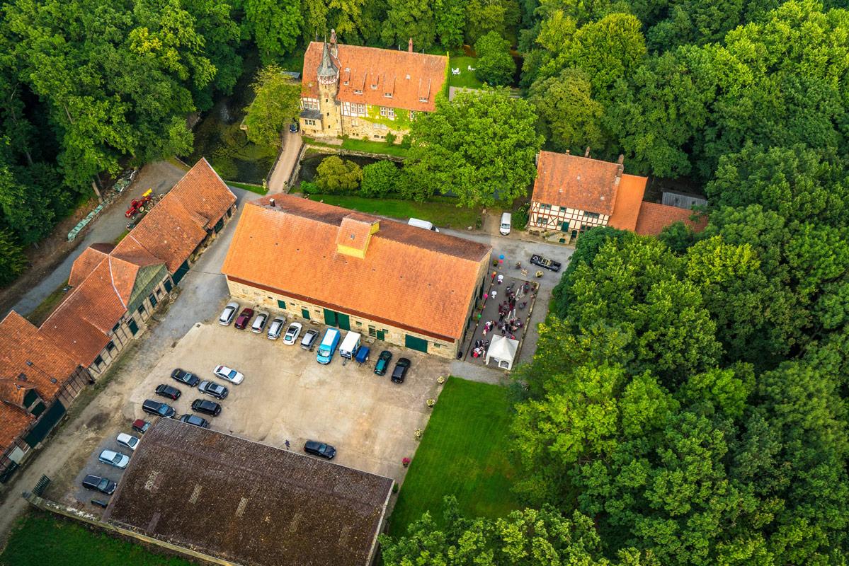 Luftaufnahme vom Gut Wichtringhausen