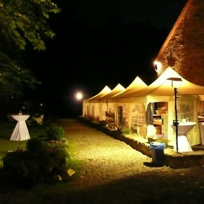Pagodenzelte, Nacht, Outdoor